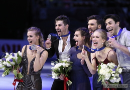 2018 - Milan, Worlds, podium dance